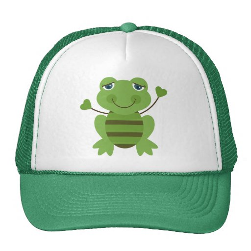 Stick Figure Frog Trucker Hat