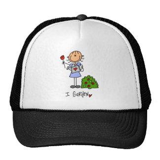 Stick Figure Garden Baseball Cap Trucker Hat