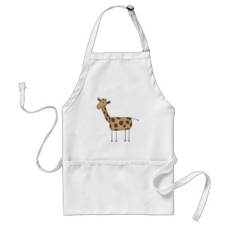 Stick Figure Giraffe Tshirts and Gifts Adult Apron