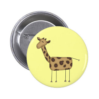 Stick Figure Giraffe Tshirts and Gifts Button