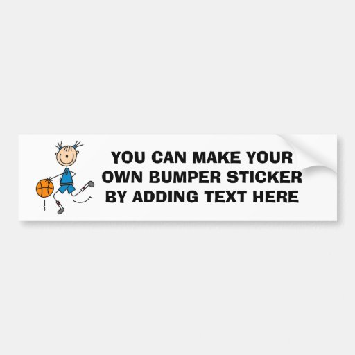Stick Figure Girl Basketball Player Tshirts Bumper Sticker