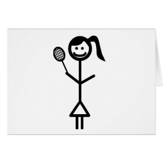 Stick Figure Girl Card