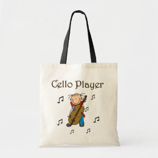Stick Figure Girl Cello Player T-shirts and Gifts Tote Bag