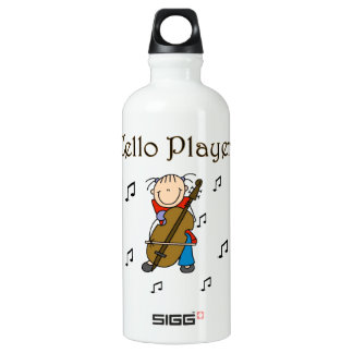 Stick Figure Girl Cello Player T-shirts and SIGG Traveler 0.6L Water Bottle