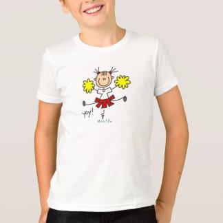 Stick Figure Girl Cheerleader Tshirts and Gifts