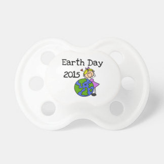 Stick Figure Girl Earth Day 2015 BooginHead Pacifier