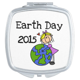 Stick Figure Girl Earth Day 2015 Vanity Mirror