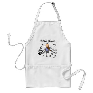 Stick Figure Girl Fiddle Player Tshirts and Gifts Apron