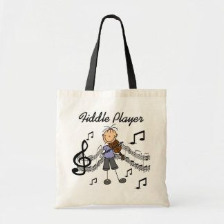 Stick Figure Girl Fiddle Player Tshirts and Gifts Tote Bag