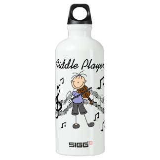 Stick Figure Girl Fiddle Player Tshirts and SIGG Traveler 0.6L Water Bottle