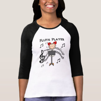 Stick Figure Girl Flute Player Tshirts and Gifts