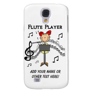 Stick Figure Girl Flute Player Tshirts and Gifts Samsung Galaxy S4 Case