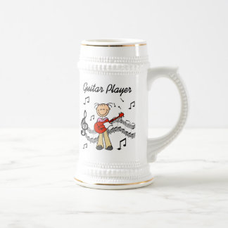 Stick Figure Girl Guitar Player T-shirts and Gifts 18 Oz Beer Stein
