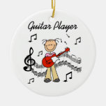 Stick Figure Girl Guitar Player T-shirts and Gifts Christmas Tree Ornament