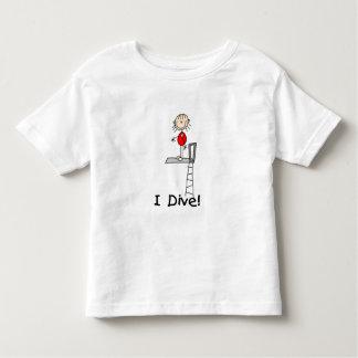Stick Figure Girl I Dive Toddler T-shirt