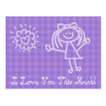 Stick Figure Girl | I Love You This Much Postcard