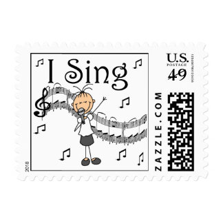 Stick Figure Girl I Sing T-shirts and Gifts Postage