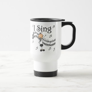 Stick Figure Girl I Sing T-shirts and Gifts Travel Mug