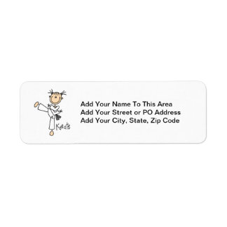 Stick Figure Girl Karate T-shirts and Gifts Label