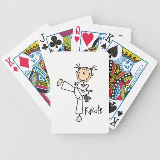 Stick Figure Girl Karate T-shirts and Gifts Deck Of Cards