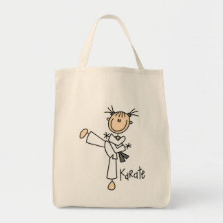 Stick Figure Girl Karate T-shirts and Gifts Tote Bag