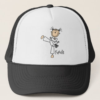 Stick Figure Girl Karate T-shirts and Gifts Trucker Hat