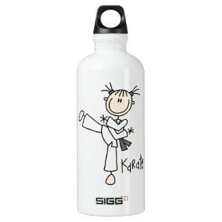 Stick Figure Girl Karate T-shirts and SIGG Traveler 0.6L Water Bottle