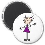 Stick Figure Girl Magnet Fridge Magnet