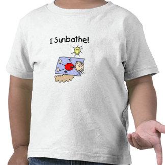 Stick Figure Girl Sunbather Tshirts