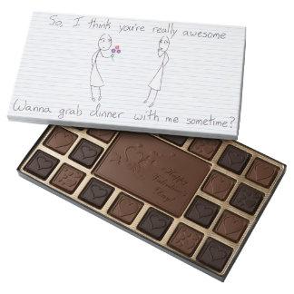 Stick Figure Girl to Girl Valentine 45 Piece Box Of Chocolates