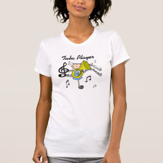Stick Figure Girl Tuba Player T-shirts and GIfts