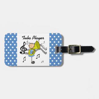 Stick Figure Girl Tuba Player T-shirts and GIfts Bag Tag