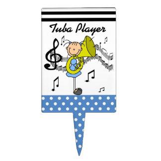 Stick Figure Girl Tuba Player T-shirts and GIfts Cake Picks