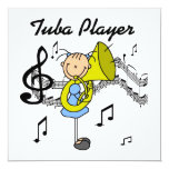 Stick Figure Girl Tuba Player T-shirts and GIfts Card