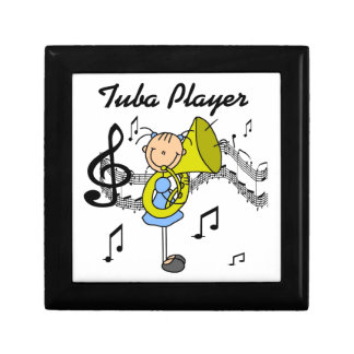 Stick Figure Girl Tuba Player T-shirts and GIfts Keepsake Box