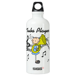 Stick Figure Girl Tuba Player T-shirts and SIGG Traveler 0.6L Water Bottle