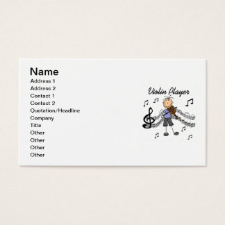 Stick Figure Girl Violin Player T-shirts and Gifts Business Card