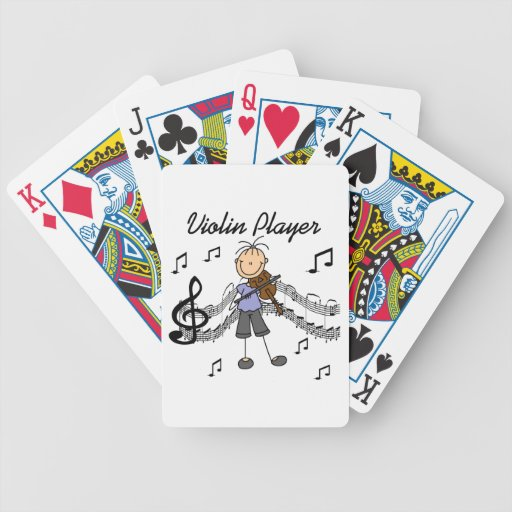 Stick Figure Girl Violin Player T-shirts and Gifts Card Deck