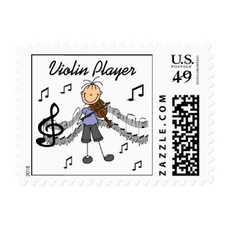 Stick Figure Girl Violin Player T-shirts and Gifts Stamps