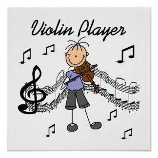 Stick Figure Girl Violin Player T-shirts and Gifts Print