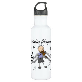 Stick Figure Girl Violin Player T-shirts and 24oz Water Bottle