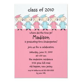 Stick Figure Girls Amp Boys Graduation Invitation
