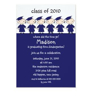 Stick Figure Girls & Boys Graduation Invitation