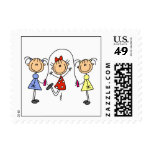 Stick Figure GIrls Jumping Rope Postage Stamps