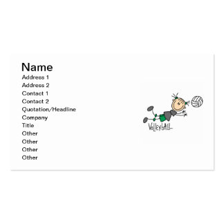 Stick Figure Girls Volleyball T-shirts and Gifts Double-Sided Standard Business Cards (Pack Of 100)