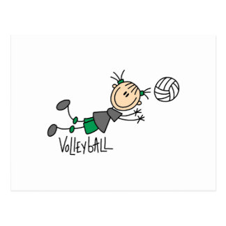 Stick Figure Girls Volleyball T-shirts and Gifts Post Card