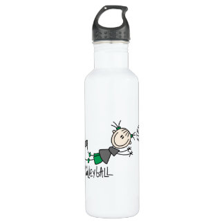 Stick Figure Girls Volleyball T-shirts and 24oz Water Bottle