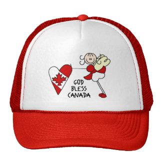 Stick Figure God Bless Canada Baseball Cap Trucker Hat