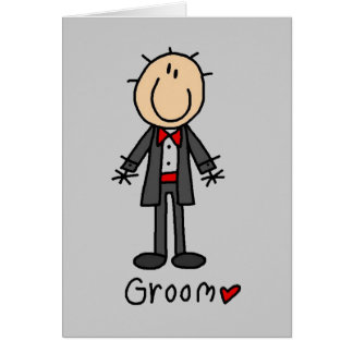 Stick Figure Groom T-shirts and Gifts Card