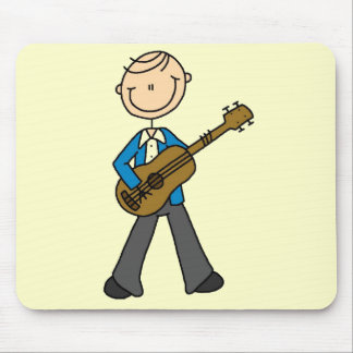 Stick Figure Guitar Player Tshirts and Gifts Mouse Pad